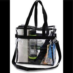 Clear Stadium approved Tote 12x12x6 New